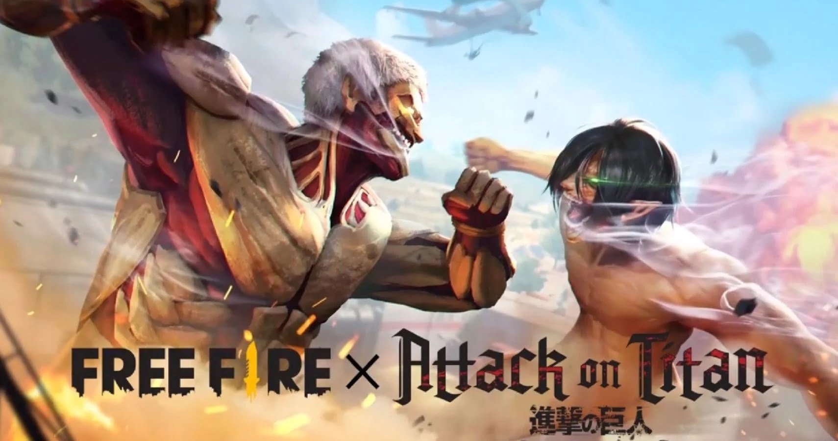 garena, free fire, attack on titan,