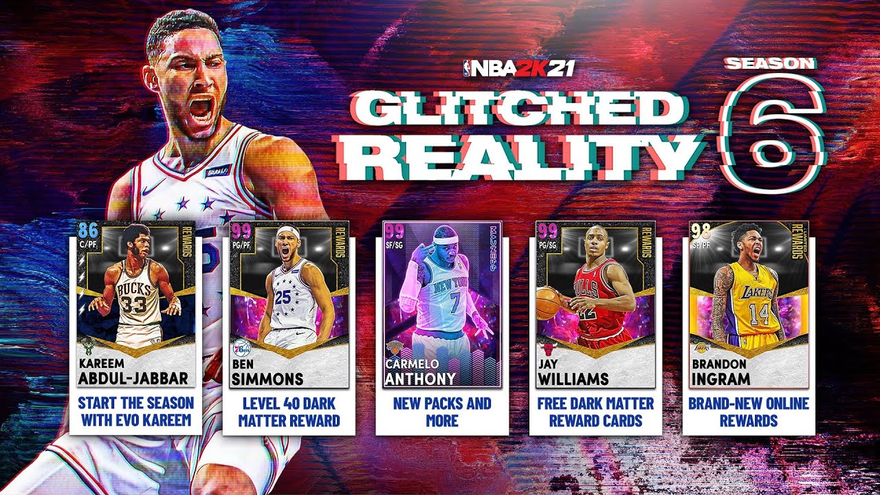 nba 2k21 myteam, myteam season 6, glitched reality