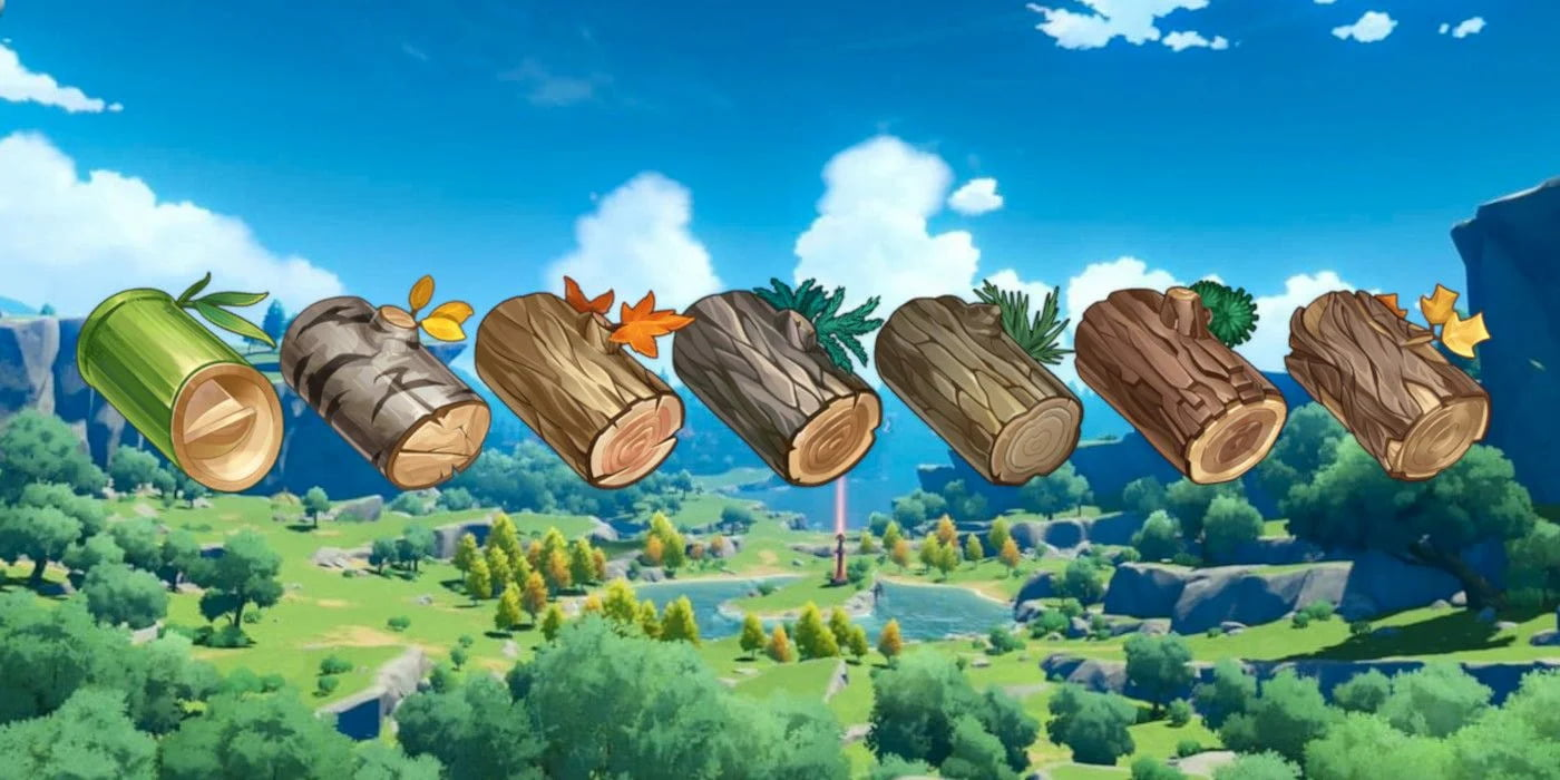 genshin impact, wood,