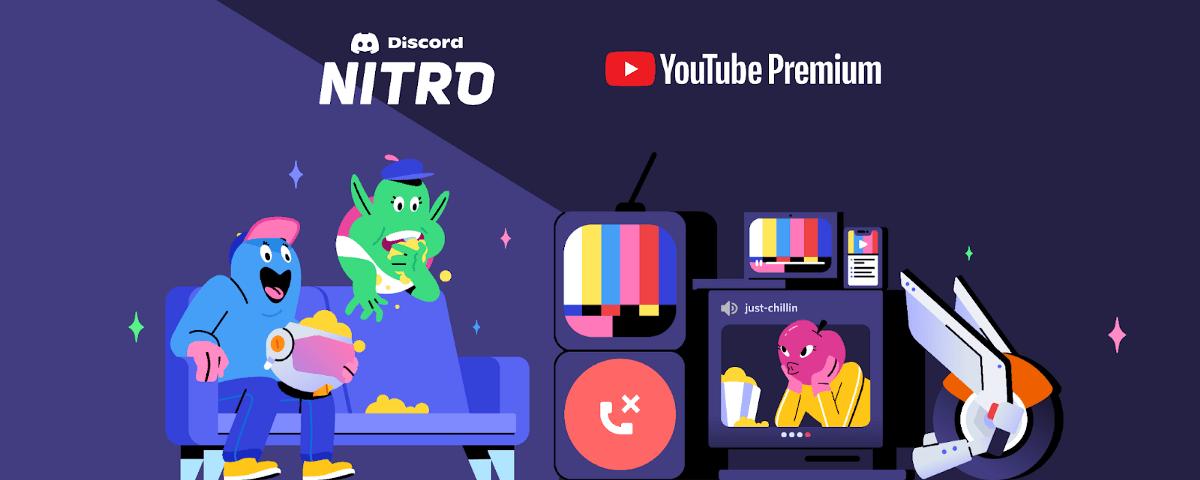 discord nitro, youtube premium,